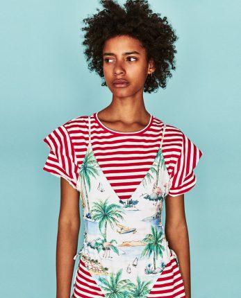 T Shirt Con Costume Disegnato Zara