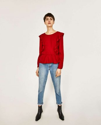 Top Con Rouches Zara