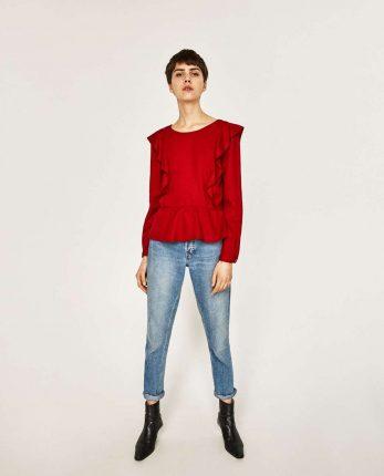 Top Con Rouches Zara