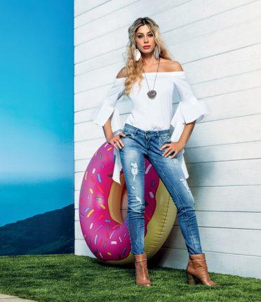 Camicia Bianca Con Maniche Svasate Talco
