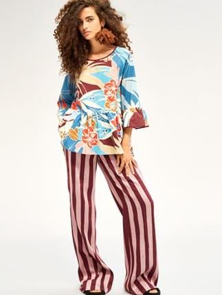 Pantaloni A Righe Beatrice B