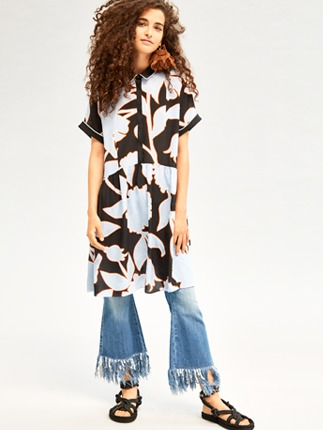 Pantaloni Jeans Con Frange Beatrice B